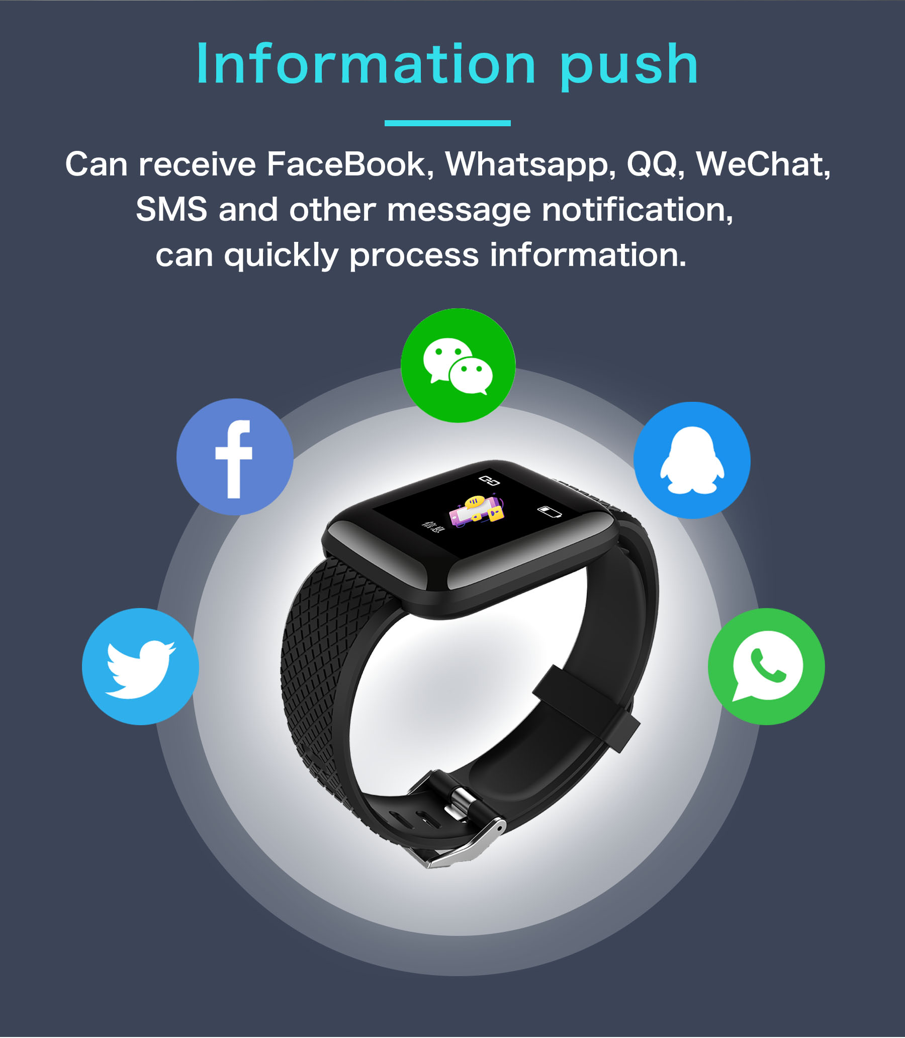 2019 Y6plus smart band 24hours Heart Rate Monitor Smart Watch Activity Fitness Tracker Water Resistant IP67 Smart Bracelet
