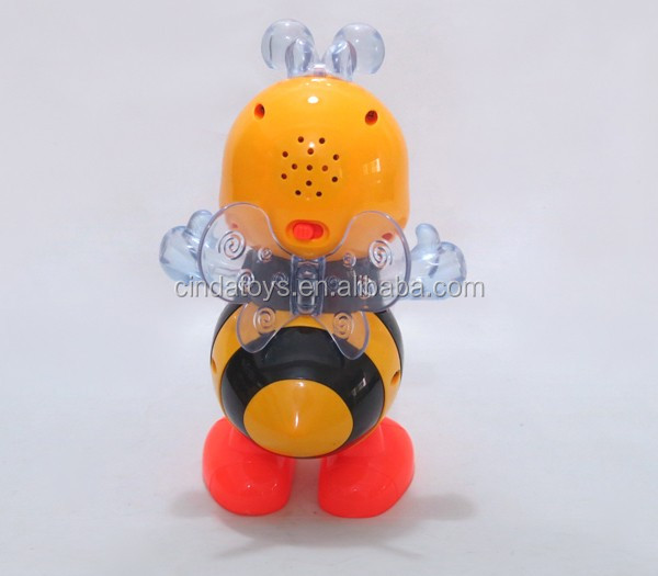 Cute dancing bee plastic toys rocking walking animals kids electric music dancing toy