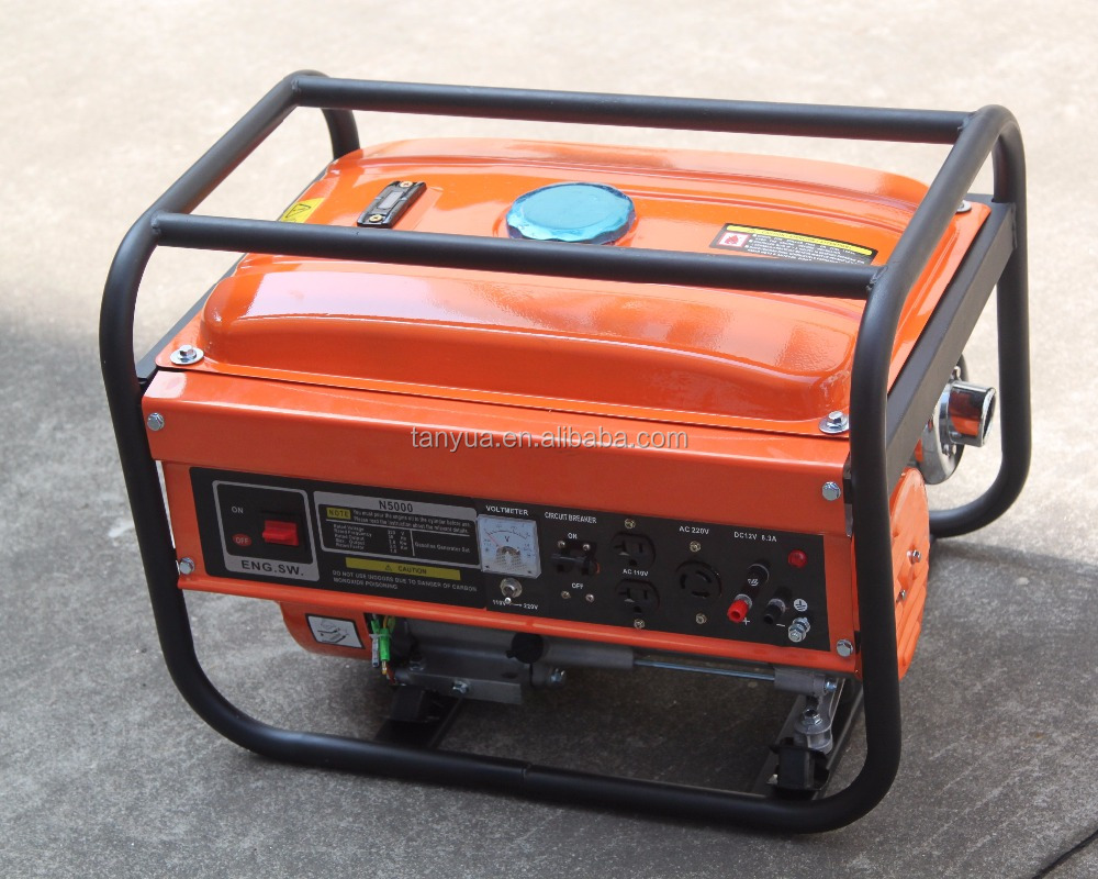 3kw manual start gasoline generator professional manufacturer