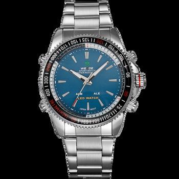 WEIDE WH903 NIYOTA Mewah Menonton Stainless Steel Tahan Air Jepang Gerakan  Quartz jam tangan Alibaba Mengungkapkan 93fe56fc4c