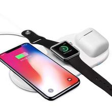 3 in 1 Veloce Qi <span class=keywords><strong>Wireless</strong></span> <span class=keywords><strong>Charger</strong></span> <span class=keywords><strong>Pad</strong></span> Per Airpower di Ricarica iPhone di Apple orologio Airpods