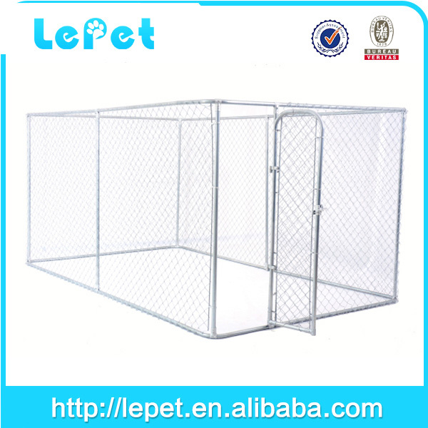Custom logo high quality Large outdoor galvanized cheap chain link dog kennel