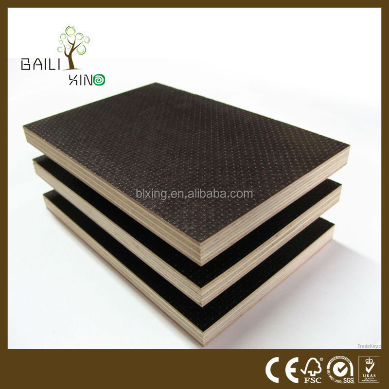 construction used marine plywood, film faced shuttering plywood