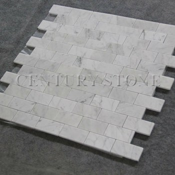 polished white marble bianco carrara 3x6 subway tile marble pencil tile
