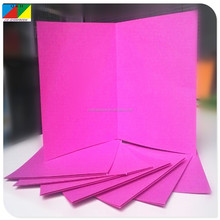 Pink brief card paper for handmade birthday card paper craft
