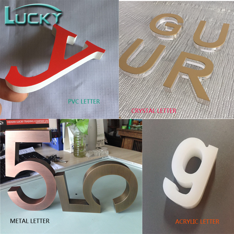 bright outdoor use 3D LED backlit channel letters
