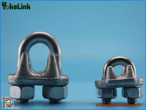 Hot galvanized dip wire rope clip / guy clip