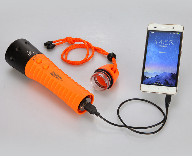 toshiba style diving led diving torch flashlight 7800Mah rechargeable diving flashlight