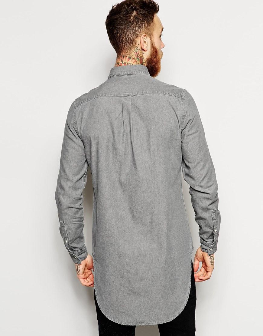2016 Pure Cotton Mens Dress Shirts Model Custom Designs Long Line