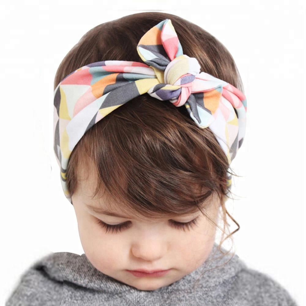 2018 Fashion Knot Headbands Cotton Hair Accessories for Women Girls Newborn  Flower Hair band Kids Head Wrap Headwear W284 64644305b4c