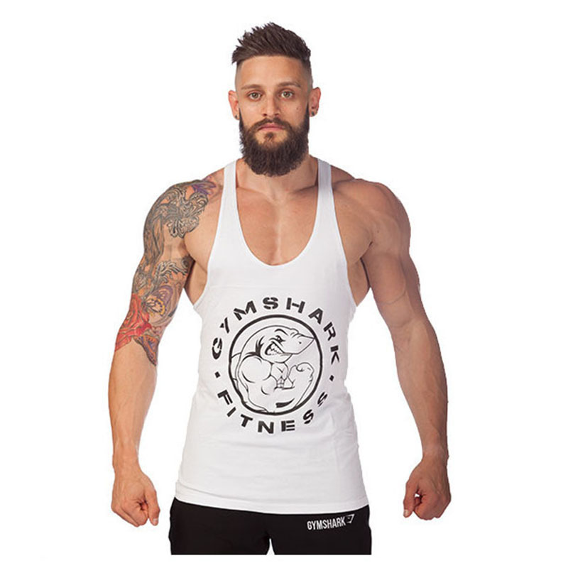 9b7d75d2c Get Quotations · Summer Style Gym Shark Sport Tank Top Fitness Men Brand  Weightlifting Vest Sleeveless Cotton Undershirt Muscle