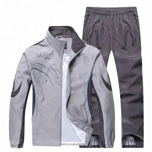 Custom polyester Mens jogging suit, tracksuit, training suit