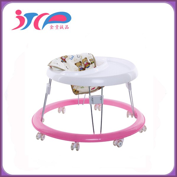 "Commercio all'ingrosso Hot Seller Cina New Model Plastic Round girelli con 8 ""ruote silenziose rotonde baby walker"