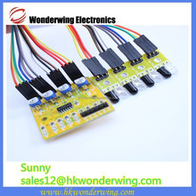 4 way infrared tracing sensor,gps tracking module, obstacle avoidance,transmission line for robot