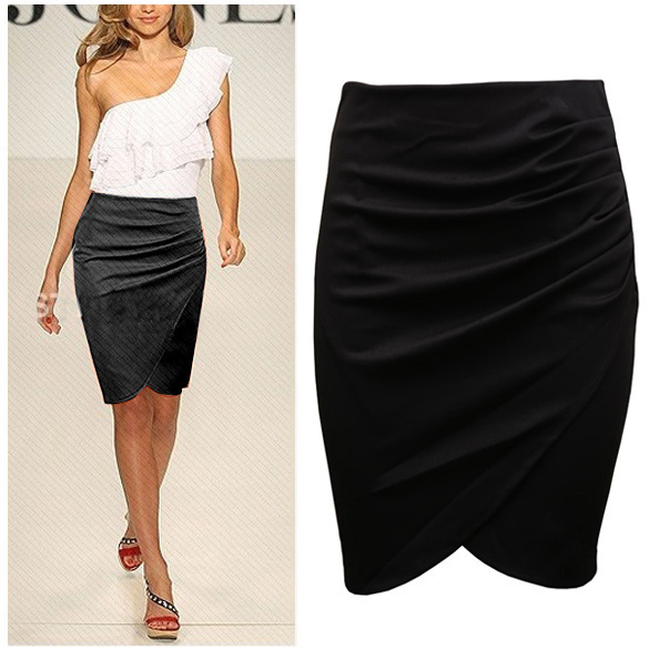 4ae66f563 2015 nueva longitud de la rodilla diseño tulipán factroy OEM moda mujeres  faldas Oficina traje