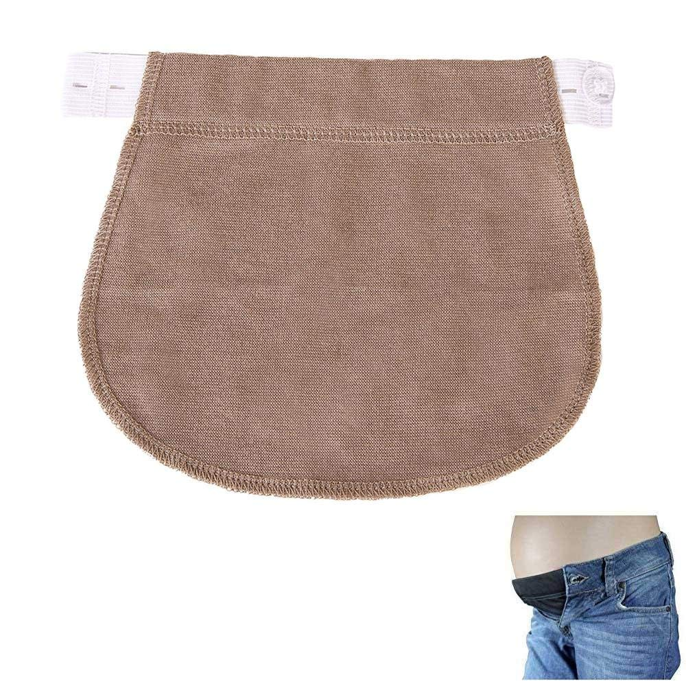 239ef1c02b57e Get Quotations · KOBWA Pregnancy Waistband Extender, the Maternity Solution Adjustable  Elastic Pants Expectant Mothers Pregnant Women