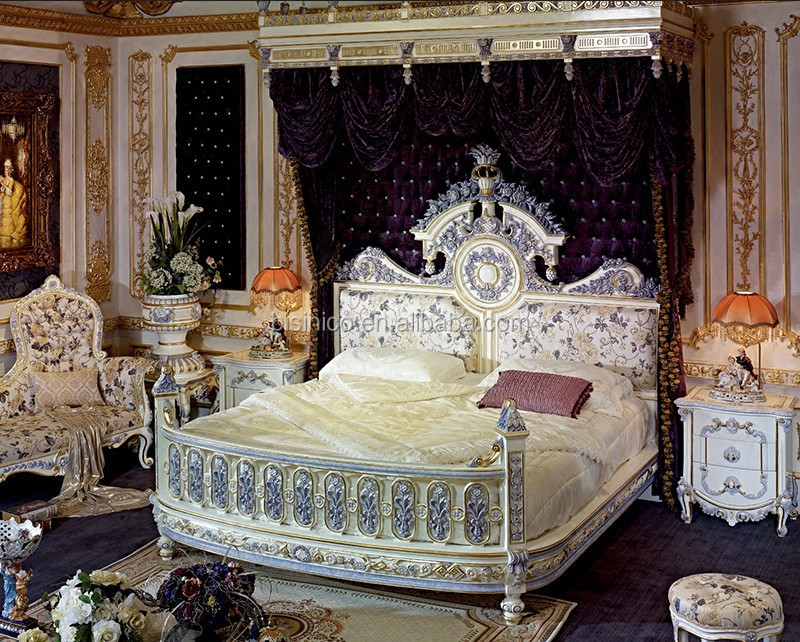 Italian Design King Bed Luxury Size Bedroom Furniture