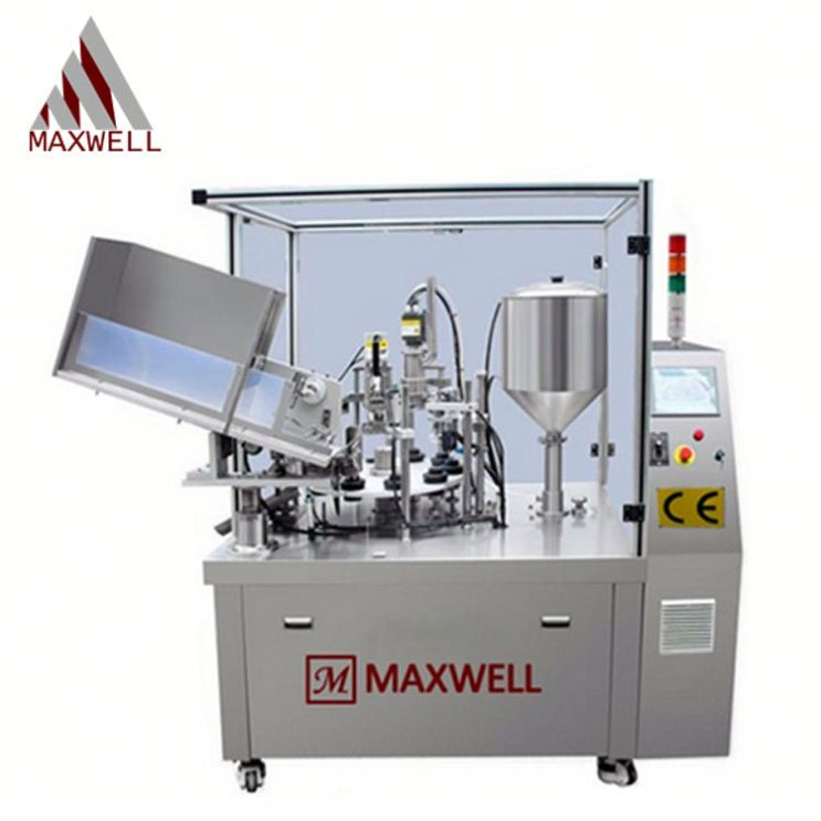 Toothpaste filling and sealing machine tube feeding machine automatic small cosmetic plastic tube filler sealer machine