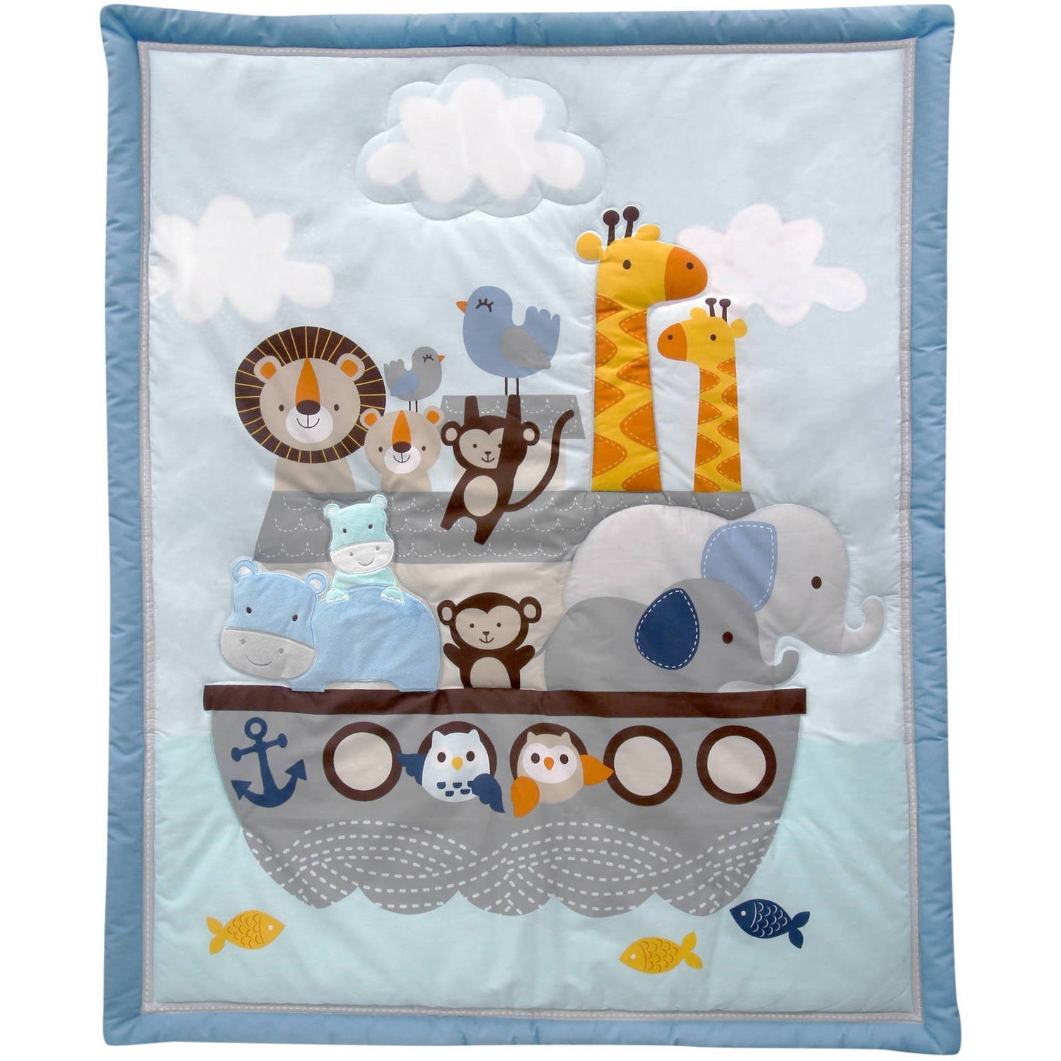 Anchor Monkey Lion Blanket Quilt