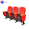 Cheap prices wholesale manufacturers in china folding auditorium chairs with writing pad, vip used cinema auditorium chair