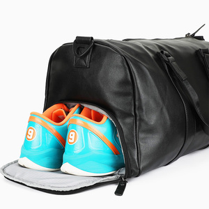 Gym Sports Luggage Tote leather duffel bag For Men