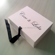 Top level custom design folding gift boxes for clothes, design strong folding fashion paper box