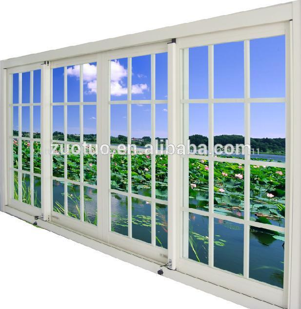 ventana corredera de aluminio doble vidrio de ventana