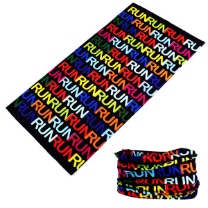 Seamless customization bandana polyester outdoor activities headband multifunctional neck wearing with Letters Decoration