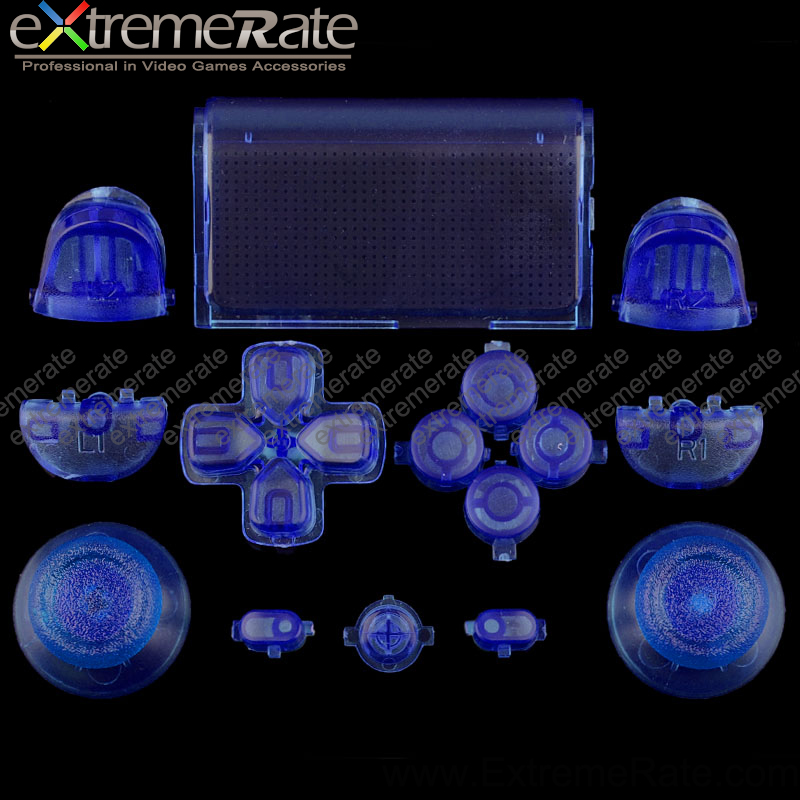 Different transparent clear colors original button sets for Sony Playstation 4 game accessories