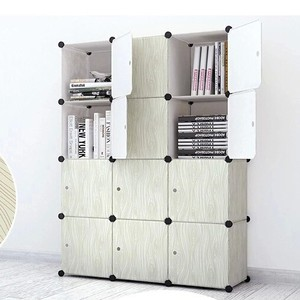 Portable wooden storage cabinet with 12 cubes in large size(FH-AL0043-12)