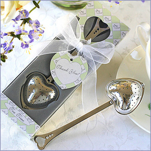 TeaTime Heart Tea Infuser Favor in Teatime Gift Box Wedding Favors Party Favors