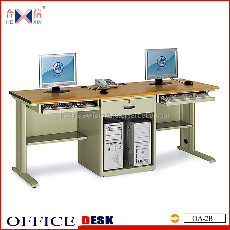 Modern 2 Person Computer Desk For Two Computers