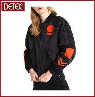 2016 New Design Women Dresses Custom Cotton Bomber Jacket