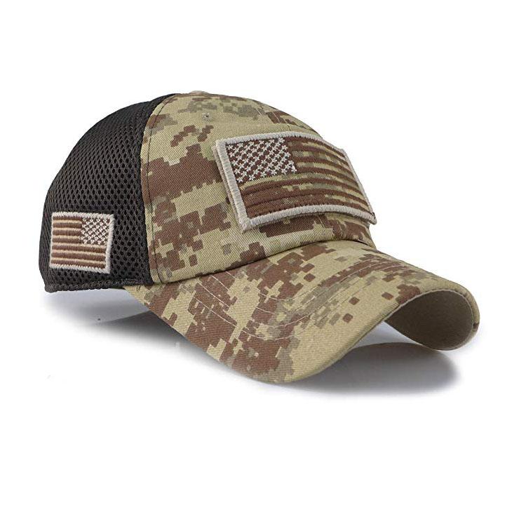 Sombrero camuflaje táctico Gorra para el sol Sombrero plano Béisbol deportivas