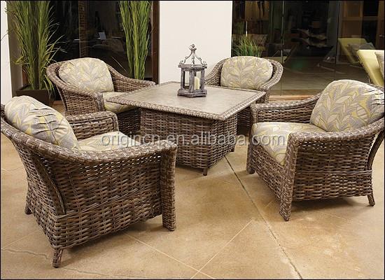 Reino Unido Estilo Elegante Terraza Muebles De Mimbre Conjunto Con ...