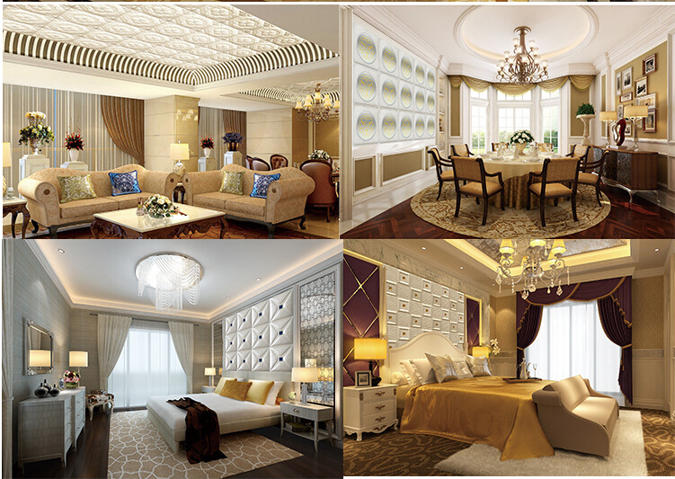 China Factory High Quality Leather Wall Panel for Interior Decorative 3D Board