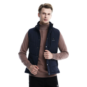 Easy Design USB Charging Men's Heated Vest in Royal Blue for Outdoor Household Activities