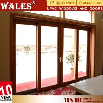 Zhongying Provide Balcony Type Upvc Sliding Bali Accordion Door Wood