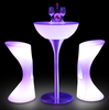 Modern bar nightclub furniture led liquid bar table /party led light cocktail table/led light round table