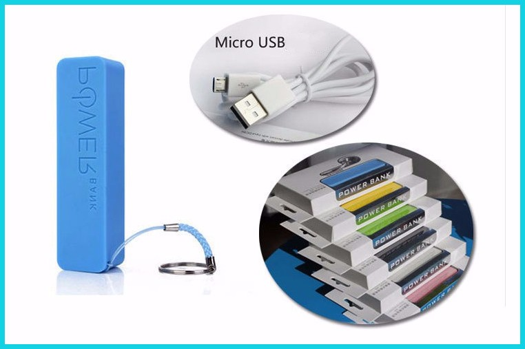Perfume model key chain Mini power bank phone charger with 2600mAh capacity