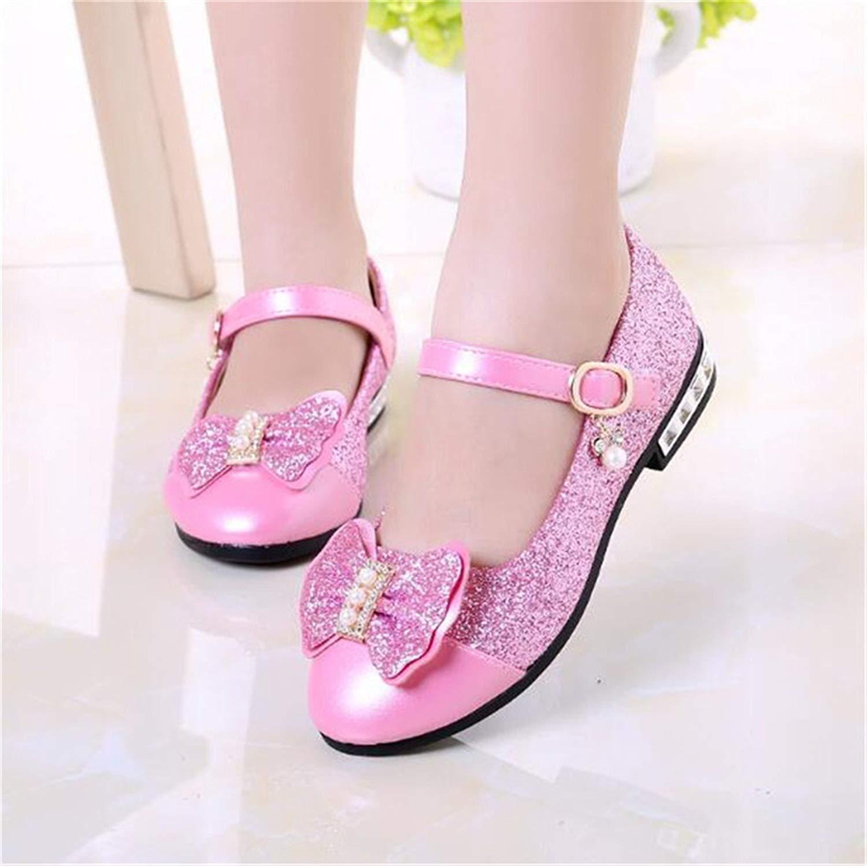 125dbb3a2a3d Get Quotations · Naomiky New Children Princess Shoes Girls Sequins Girls  Wedding Party Kids Dress Shoes for Girls Pink