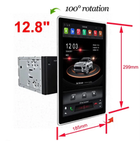 100 degree rotate 12.8 inch tesla car with android car dvd for universal model