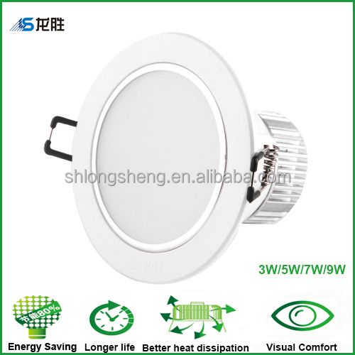 CE, SAA, Rohs IC driver 5W recessed led downlight with 90mm cut out