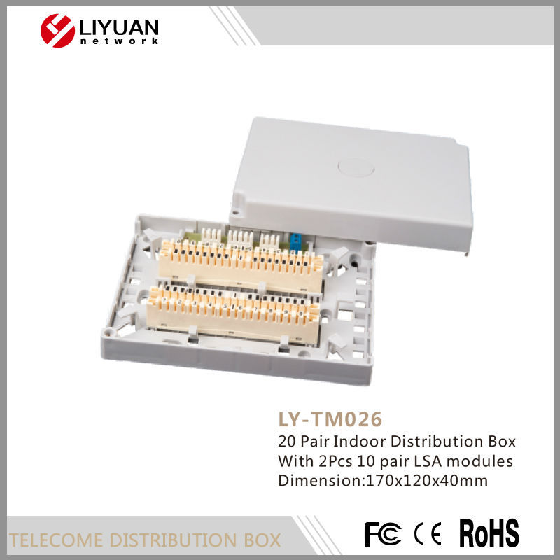 LY-TM026 20 Pair Indoor Distribution Box With 2Pcs 10 pair LSA modules