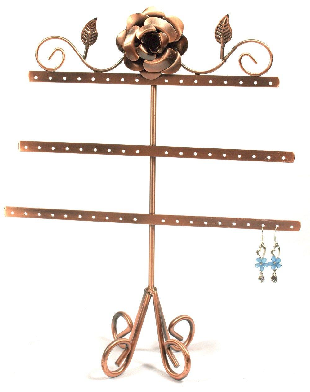 "13"" Copper Color Jewelry Earring Holder / Earring Tree / Earring Oraganizer / Earring Stand / Earring Display"