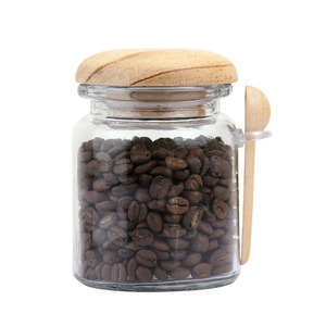 Glass Storage Jar with Wooden Spoons