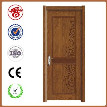 2017 new interior mdf pvc wooden single main door design for Latest single door design