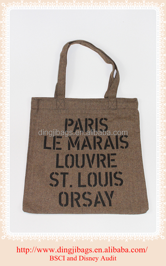 Custom Tote Wholesale Canvas Shopping Bag
