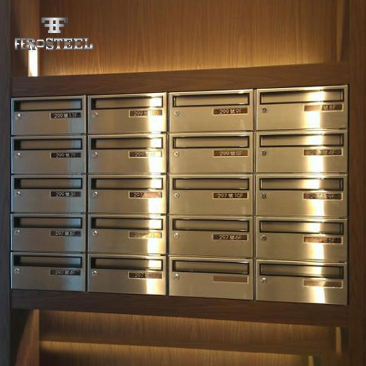 Good Quality Commercial Stainless Steel Embedment Mailbox For Sale