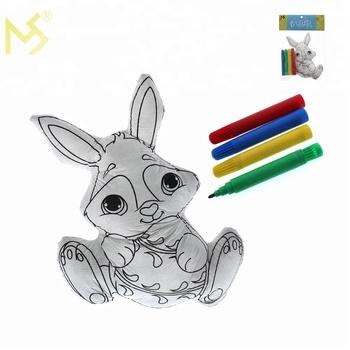 Paskalya Tavşanı Diy çizim Oyuncak çocuklar Için Renkli Kalem Boyama